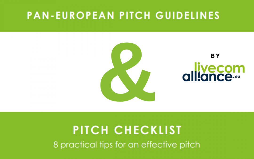 Pan-European Pitch Guidelines from LiveCom Alliance
