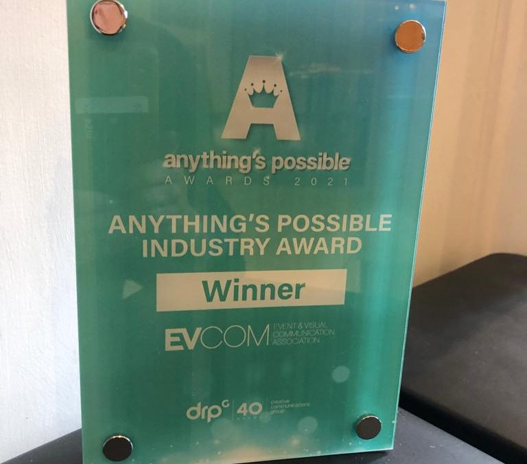 EVCOM wins an award for Diversity and Inclusion at DRPG's Anything's Possible Awards!